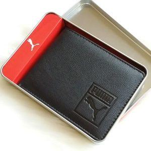 Puma   Black Faux Leather Wallet